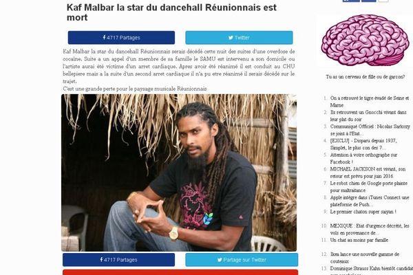 Kaf Malbar fausse mort