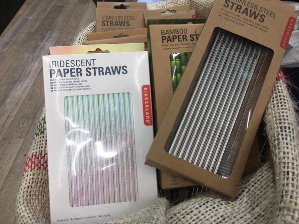 Pailles alternatives au plastique