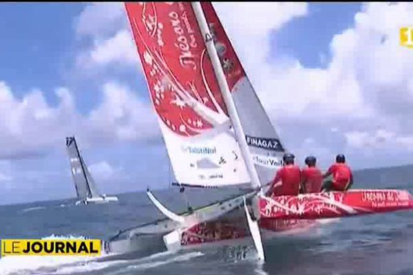 Tour de France à la voile : Les équipages de Damien Seguin et Teva Plichart s'entrainent dur à Tahiti !