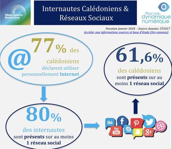 Utilisation d'internet en Calédonie