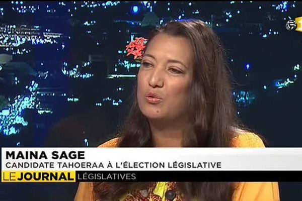 Législatives partielles : Maïna Sage, invitée du JT