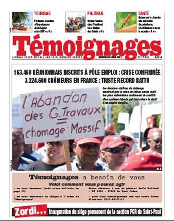 Témoignages, la Réunion