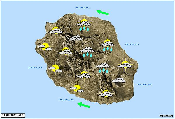 Carte météo 13 septembre 2021