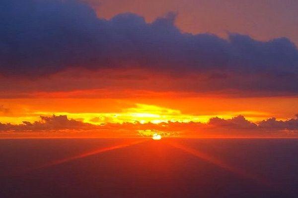 Soleil couchant sur l'Ouest février 2019