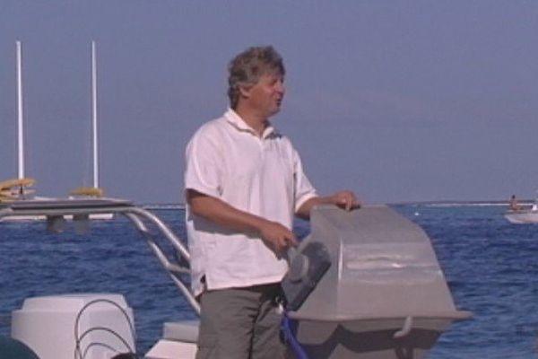 Laurent Bourgnon, à la Marina Taina, à Tahiti, Polynésie française.
