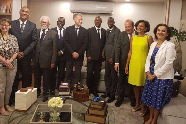 Le président d'Haïti et des élus de Guyane et de Guadeloupe