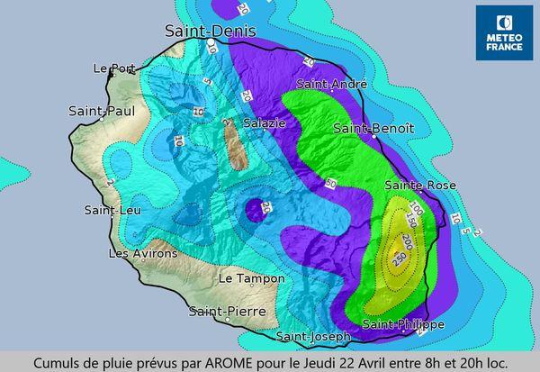 fortes pluies cumuls météo france 220421
