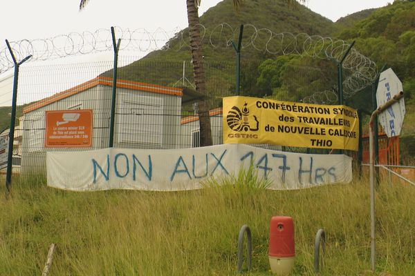 Centre minier SLN de Thio : grève