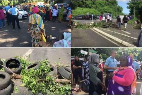 A Mayotte, les manifestants ont décidé d'ériger des barrages pour protester contre l'insécurité.