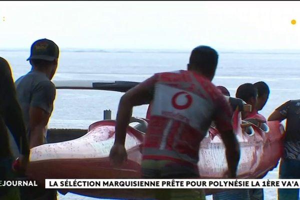 Une sélection marquisienne engagée au marathon va'a Polynésie la 1ère