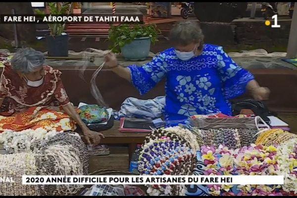 Aéroport de Tahiti : 2020, année difficile pour les artisanes du Fare Hei