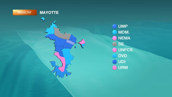 Carte cantons Mayotte