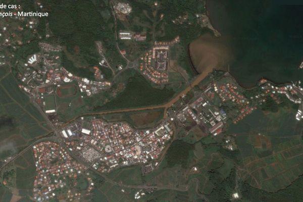 Le François (Martinique) - vue aérienne