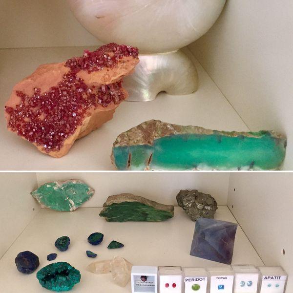 Anouck collectionne les pierres.