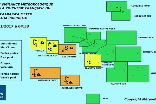 Vigilance orange maintenue aux IDV et aux Australes