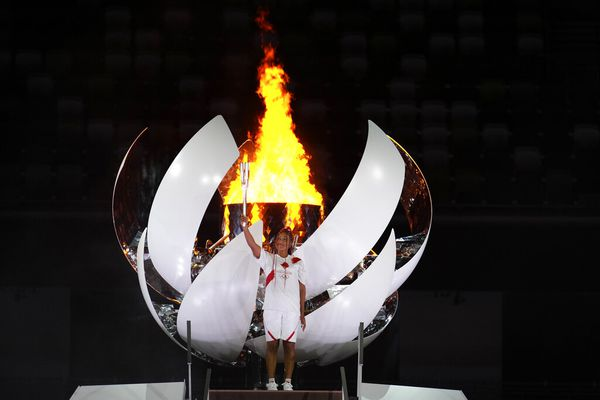 Naomi Osaka porteuse de flamme olympique