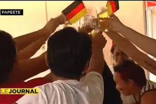 L'ambiance à Papeete pendant le match Allemagne – Argentine