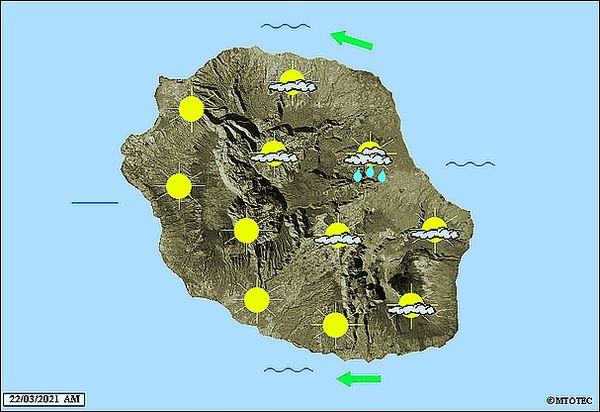 Carte météo 22 mars 2021