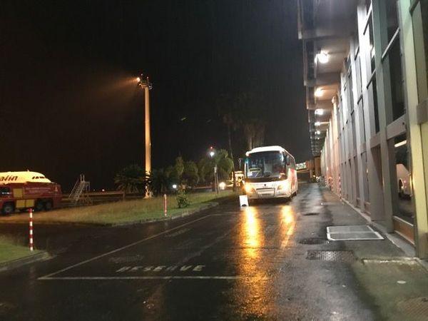 Bus arrivée aéroport de la Tontouta coronavirus