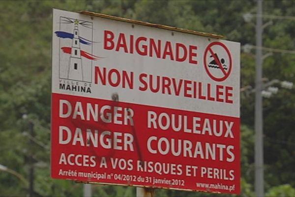 Des panneaux danger en cas de fortes houles bientôt installés à Papenoo