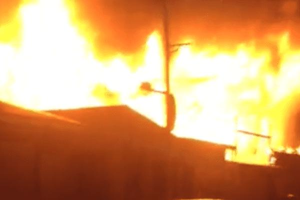 Incendie dans le bourg du Gosier