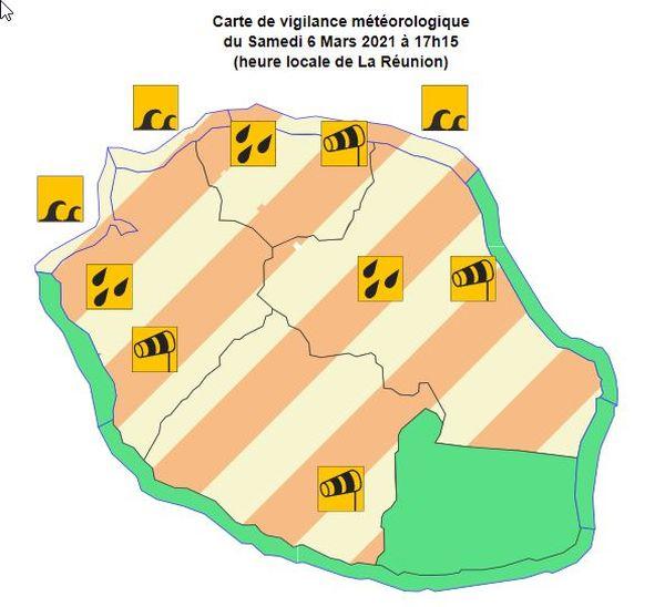 dépression tropicale n°14 météo tempête vigilances 060321