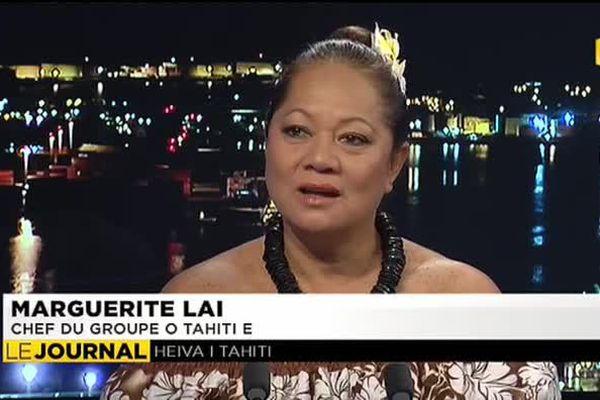 Marguerite Lai, chef du groupe O Tahiti E était l'invitée du journal