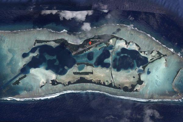 Vue de l'atoll Palmyra