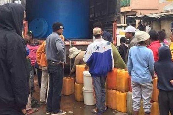 Pénurie d'eau à Antananarivo octobre 2019