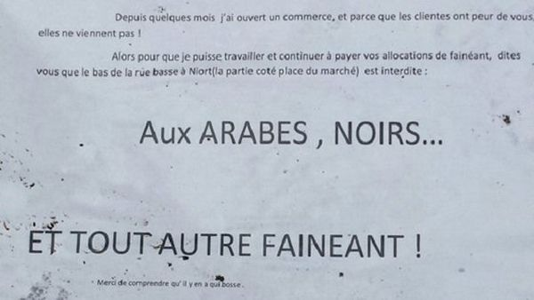 affiche raciste
