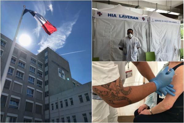 Dans les centres de vaccination avec des militaires ultra-marins du Service de santé des armées