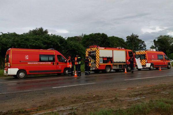 Accident sur la route de Macouria