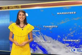 Mehiata Riaria, présentatrice météo de Polynésie 1ère
