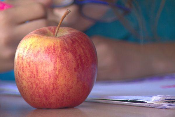 Pomme offerte par une maman d'élève à Nouméa pour compléter la collation froide prévue ce jeudi.