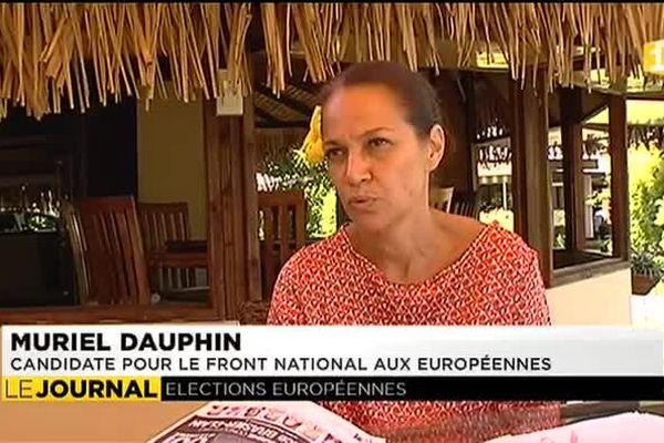 Muriel Dauphin, candidate FN aux européennes