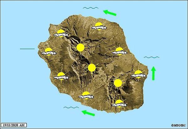 Carte météo 19 nov 2020