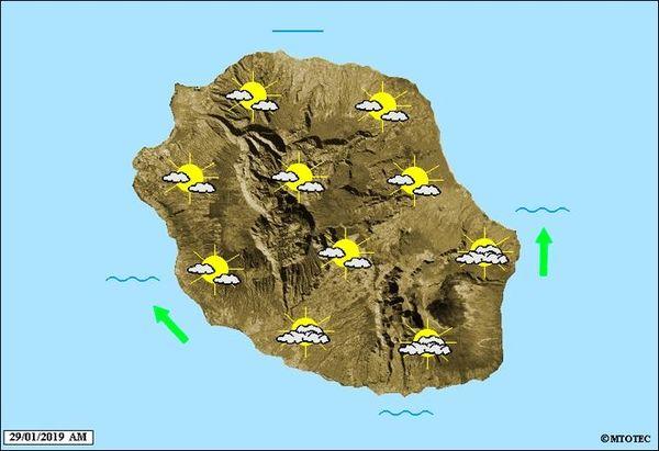 Carte météo 29 janvier 2019