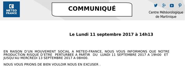 communiqué de Météo France