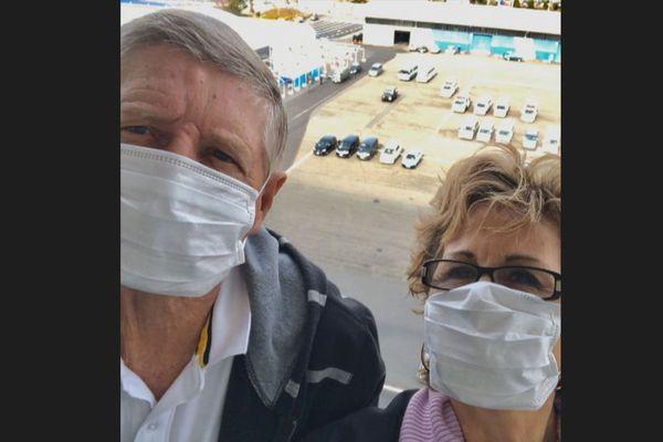 Michel Vittori et son épouse