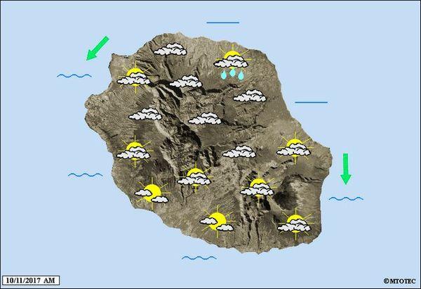 Carte météo vendredi 10 novembre 2017