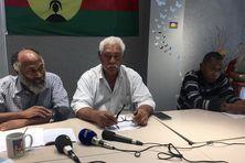 Le FLNKS en conférence de presse à Nouméa, mercredi 5 mai.
