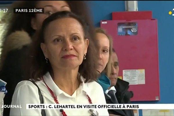 Christelle Lehartel en visite à l'INSEP