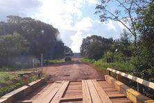 Pont en bois sur la BR 156