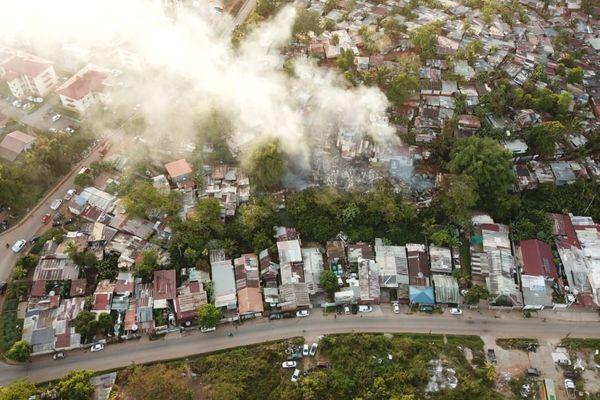 Incendie au squat Bambou sur le territoire de Rémire-Montjoly