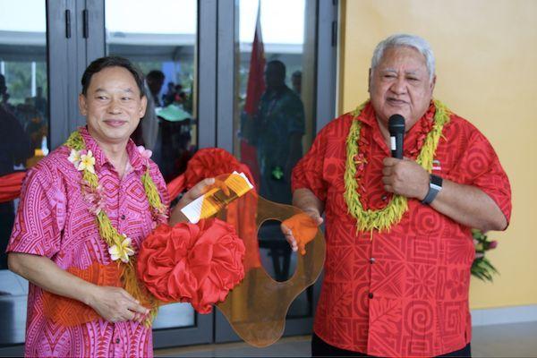Samoa, remise de clés d'installations financées par la Chine