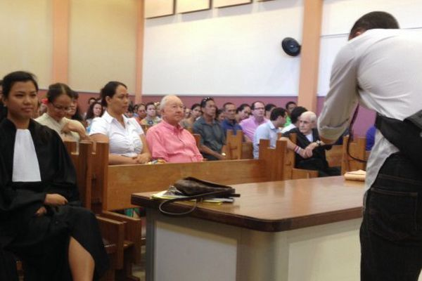Gaston Flosse au tribunal de Papeete, 04 09 2014