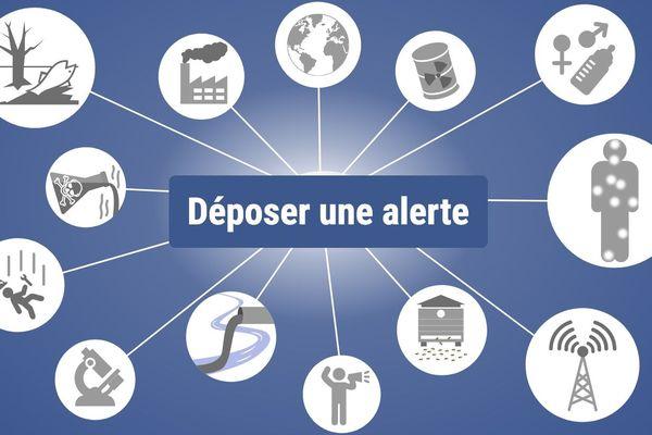 Site internet pour faire des alertes sanitaires et environnementales