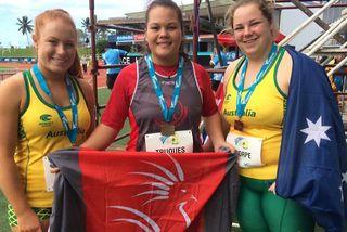 Coranne Truques marteau Oceani athlétisme Fidjia