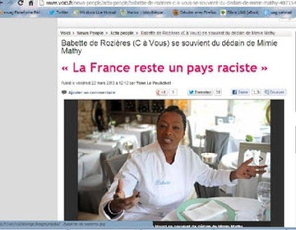 Babette de Rozières sur le site du journal Voici
