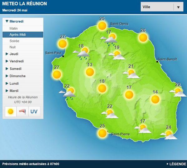 Carte météo 24 mai 2017